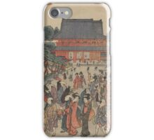 New edition of a front view of San'enzan Zojoji in Shiba - Shucho Tamagawa - 1789 iPhone Case/Skin