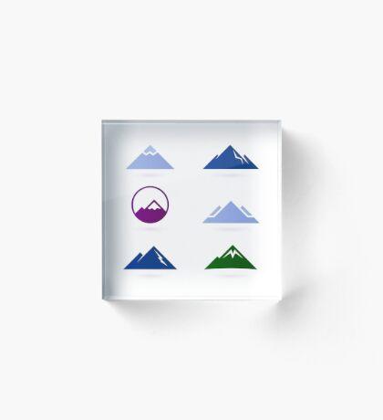 New stylish Hills adventure ICONS Acrylic Block