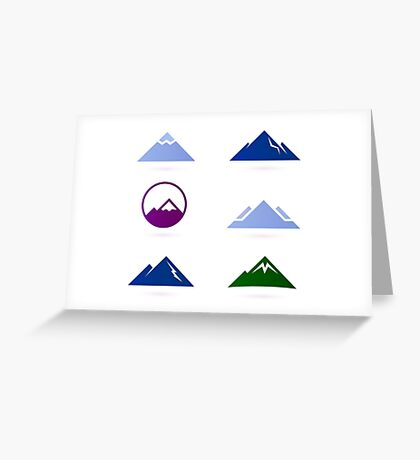 New stylish Hills adventure ICONS Greeting Card
