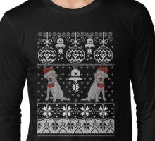 Labrador Ugly Christmas Sweater, Labrador Christmas Ugly Sweater Long Sleeve T-Shirt