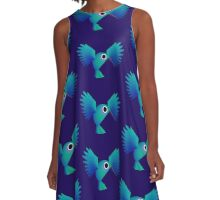 Hummingbird A-Line Dress