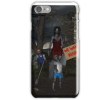 Zombie Protest iPhone Case/Skin