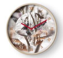 Three hungry pigeons clock Clock