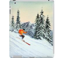 Skiing - The Clear Leader iPad Case/Skin