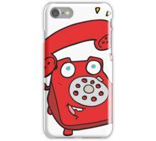 cartoon ringing telephone iPhone Case/Skin