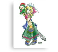 Legend of Mana Hero Canvas Print
