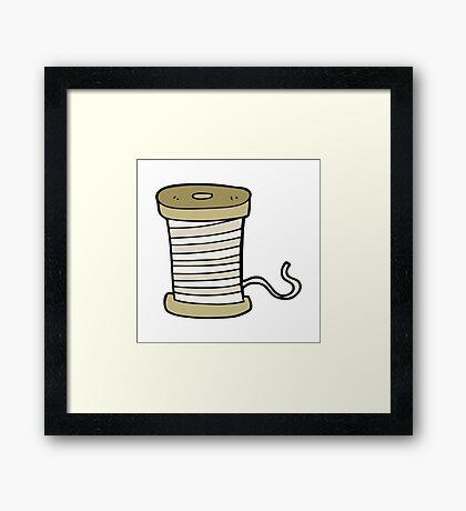 cartoon yarn Framed Print