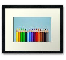 Pencil Colors  Framed Print