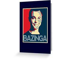 Bazinga Poster Greeting Card