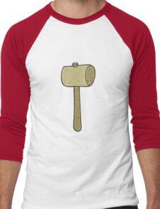 cartoon wooden mallet Men's Baseball ¾ T-Shirt