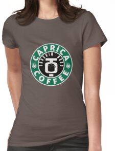 Caprica Coffee - green Womens Fitted T-Shirt