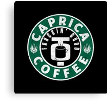 Caprica Coffee - green Canvas Print