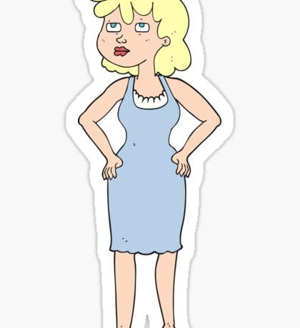 cartoon annoyed woman Sticker