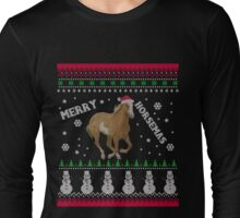 Horse Lover Ugly Christmas Swearse, Horse Lady Christmas Ugly Sweater Long Sleeve T-Shirt