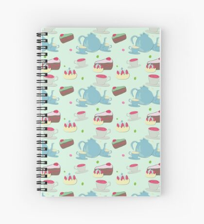 tea time with cake Spiral Notebook