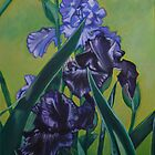 Iris for Autumn Two by Lori Elaine Campbell