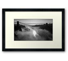 Clifton Suspension Bridge, Bristol B&W Framed Print