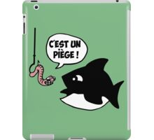 poisson pêcheur humour fun iPad Case/Skin