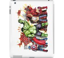 Big Green Monster has a little bird iPad Case/Skin