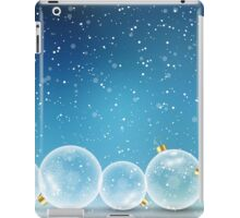 Christmas Balls and Snow iPad Case/Skin