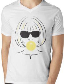 Anna Wintour Bubble Gum Portrait illustration Mens V-Neck T-Shirt