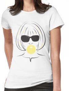 Anna Wintour Bubble Gum Portrait illustration Womens Fitted T-Shirt