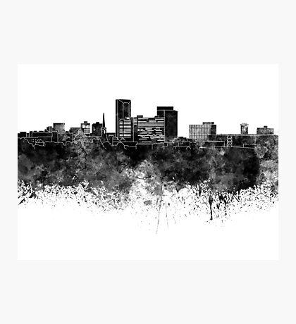 Lexington skyline in black watercolor Photographic Print