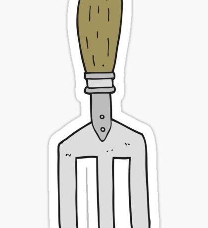 cartoon garden fork Sticker