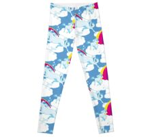 Einhorn Familie – Unicorn Family - Blau Leggings
