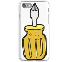 cartoon screwdriver iPhone Case/Skin