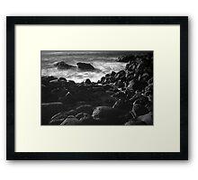 The Dark Rocks Framed Print