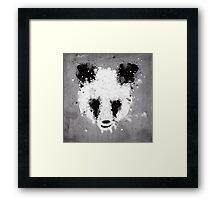 panda paint Framed Print