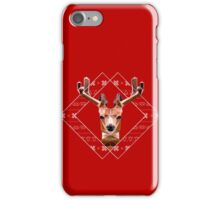 Modern Christmas Reindeer iPhone Case/Skin