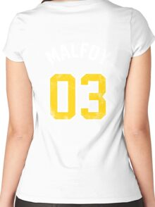 Draco Malfoy - Quidditch Shirt - NO.3 Women's Fitted Scoop T-Shirt
