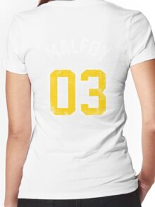 Draco Malfoy - Quidditch Shirt - NO.3 Women's Fitted V-Neck T-Shirt