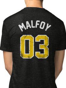 Draco Malfoy - Quidditch Shirt - NO.3 Tri-blend T-Shirt