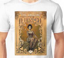 TATTOOED LADY; Vintage Advertising Print Unisex T-Shirt