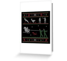 Ugly Christmas Sweater Zombie Greeting Card
