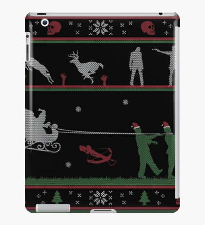 Ugly Christmas Sweater Zombie iPad Case/Skin