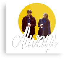 Caskett - Always Metal Print