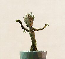 Baby Groot from Guardians of the Galaxy by pop-lygons
