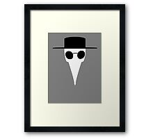 Mask of the Doctor Framed Print