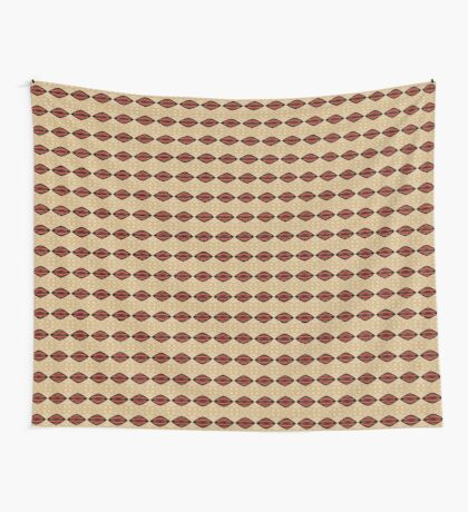 Mud Cloth in Red and Tan Wall Tapestry