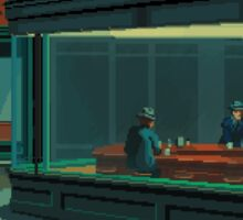 Nighthawks - A Pixel Tribute Sticker
