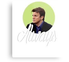 Richard Castle - Always Metal Print