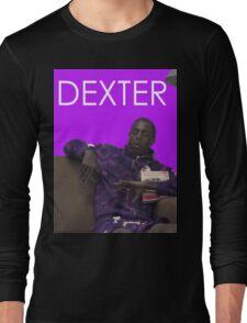 dexter - purple Long Sleeve T-Shirt