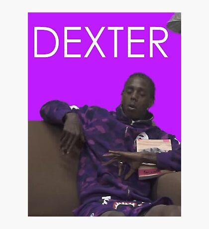 dexter - purple Photographic Print