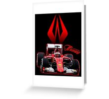 Kimi Raikkonen 7 F1 Formula 1, the Iceman Greeting Card