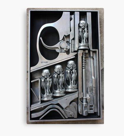 H. R. Giger Museum - Entrance Statue. Gruyeres, Switzerland Canvas Print