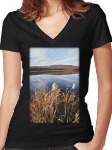 Designer Glass Women's Fitted V-Neck T-Shirt